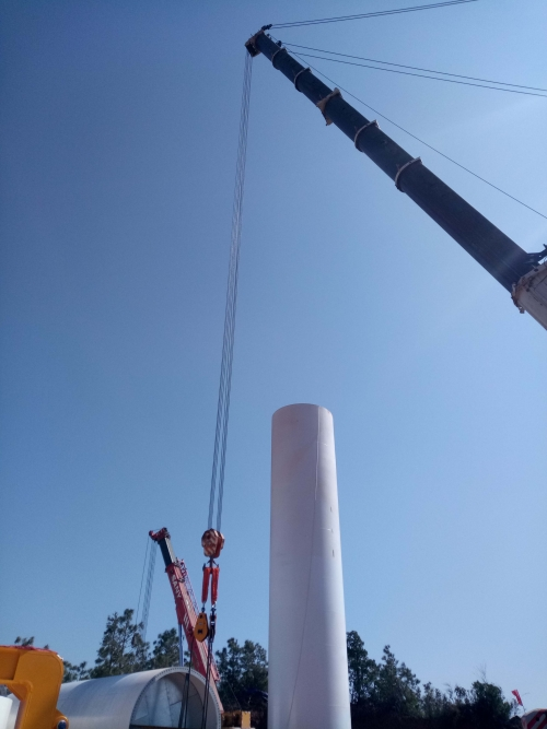 攀枝花麻栗坪风电塔筒项目
